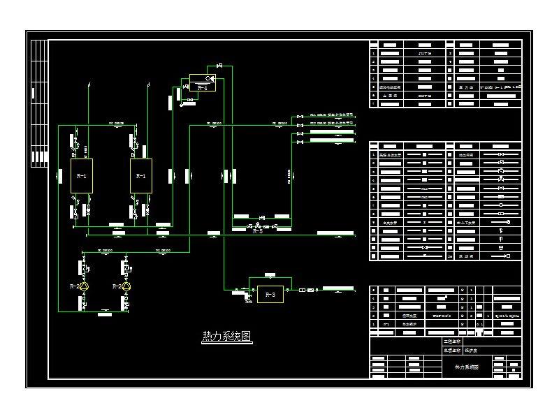 锅炉房供热系统原理图