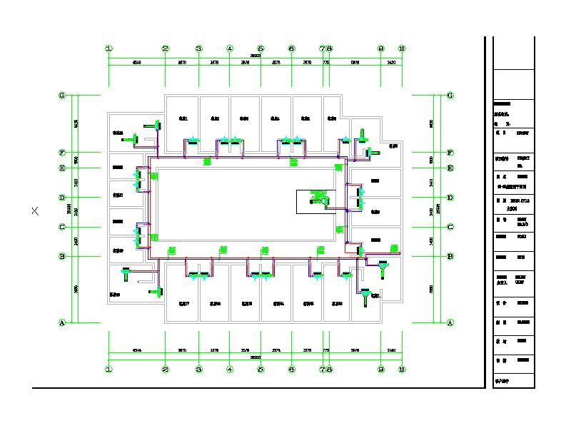 成都某商务酒店空调施工方案图