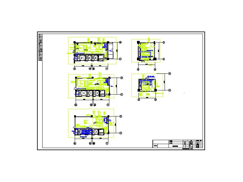 空调制冷机房及空调机房布置图