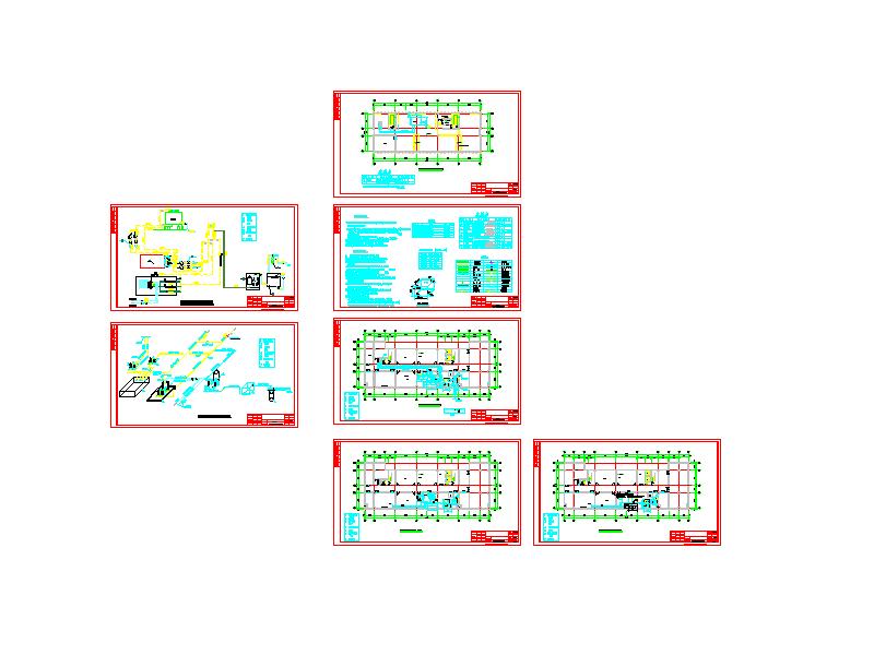 河南某检验检疫局综合实验楼制冷机房图
