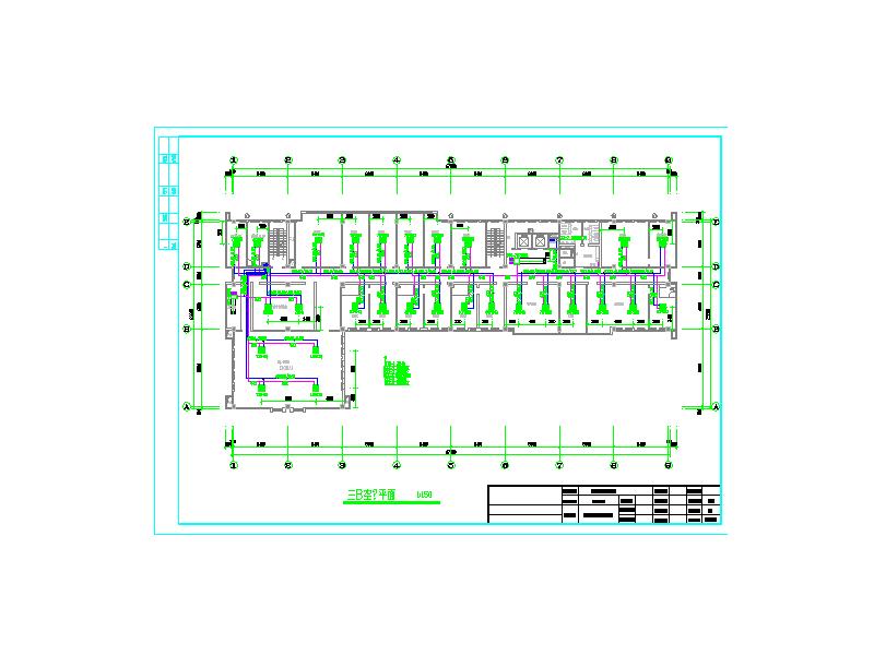某质检中心空调平面图
