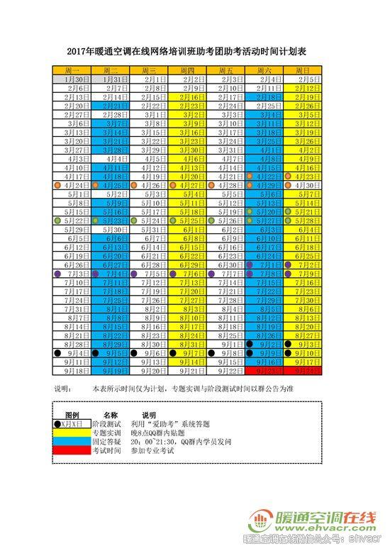 2017培训班-专题实训与阶段测试计划_副本